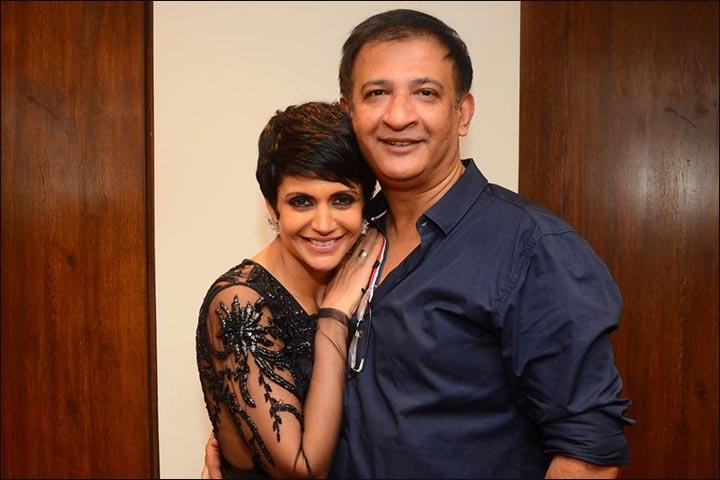 Mandira Bedi shoots ad with husband Raj Kaushal