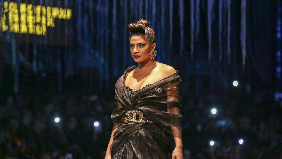 Priyanka Chopra Jonas walks the ramp at Blenders Pride Fashion Tour 2020