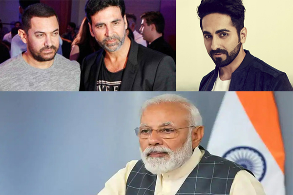 Akshay Kumar, Aamir Khan, Ayushmann and others support PM Modi