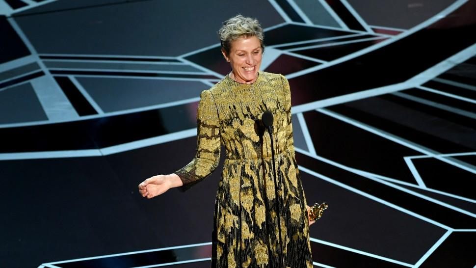 Frances McDormand wins best actress at Oscars
