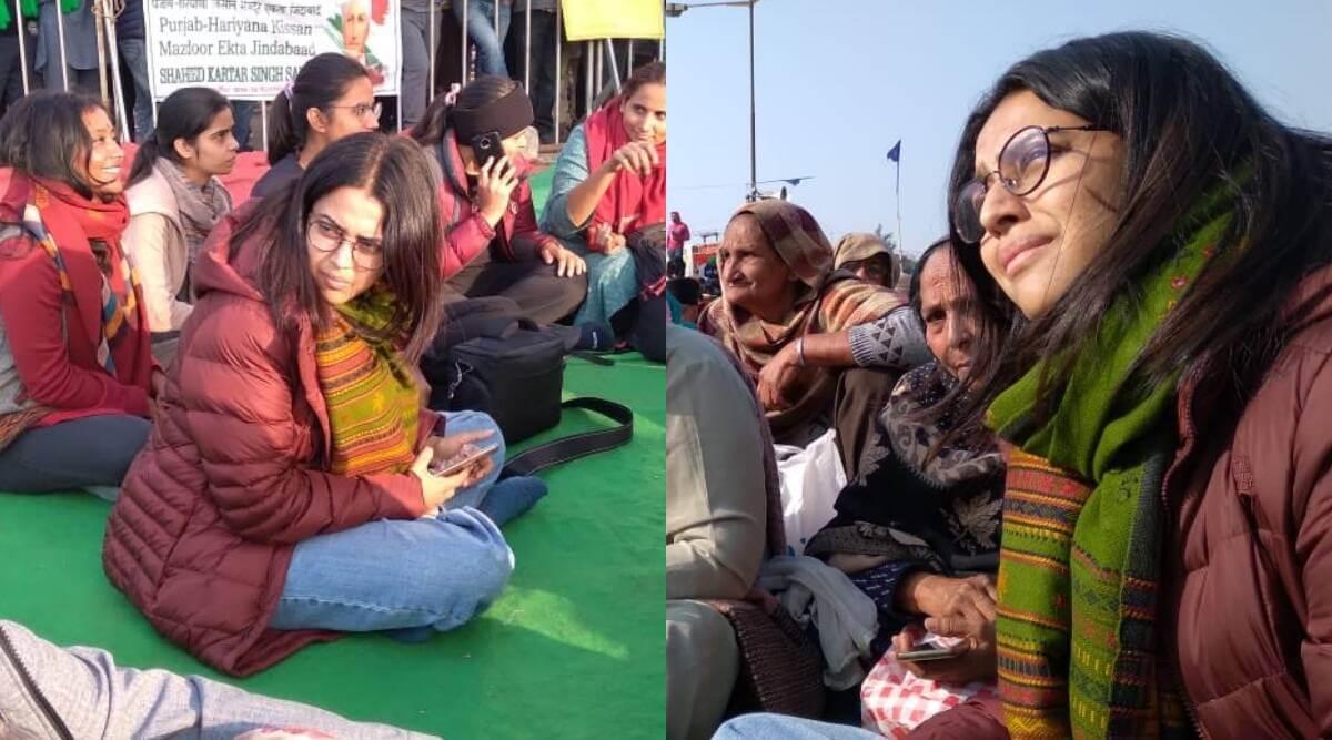farmersprotest:swarabhaskerjoinstheprotestatsinghuborder