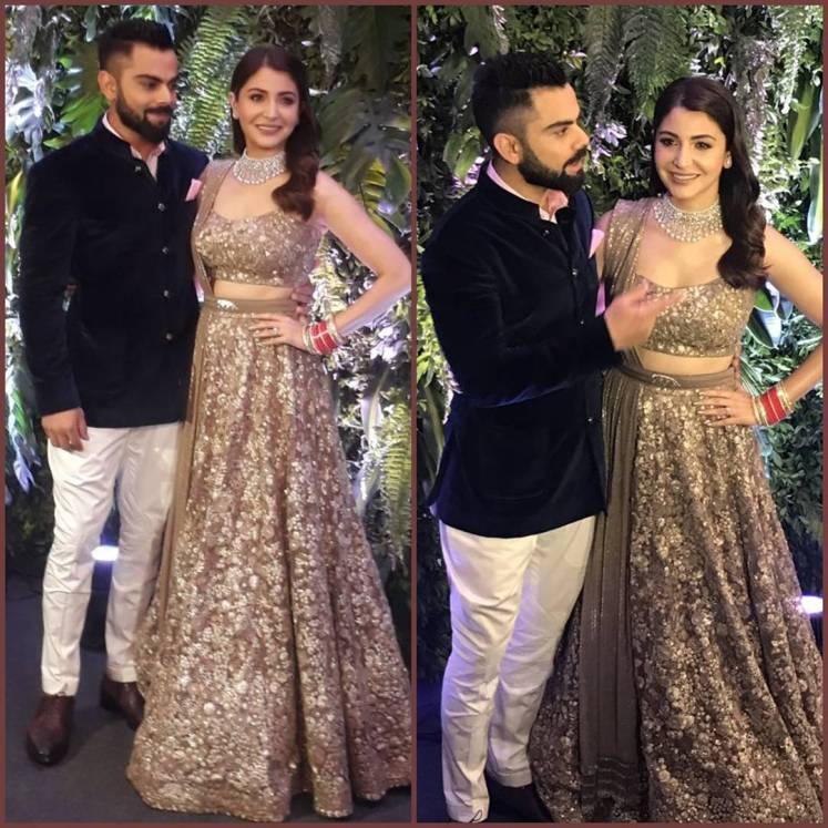 Cricketers and bollywood stars attend reception of virat and anushka