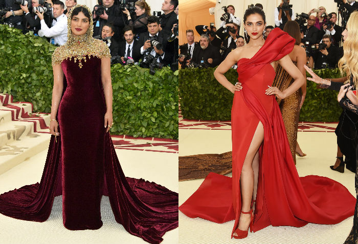 Priyanka Chopra and Deepika Padukone attended the 2018 Met Gala held in New York