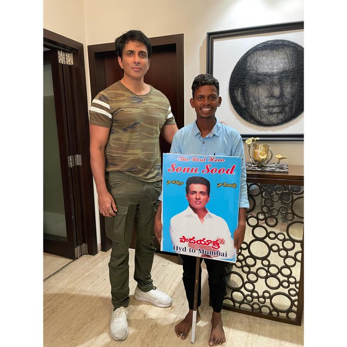 Boy Walks Barefoot From Hyderabad To Mumbai To Meet Sonu Sood, Actor Reacts!