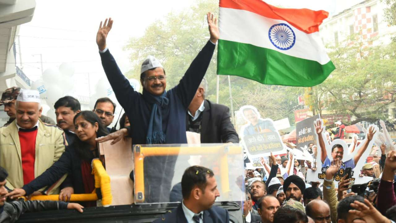 arvind-kejriwal-to-hold-roadshows-and-election-meetings-in-favour-of-their-party-candidates-today