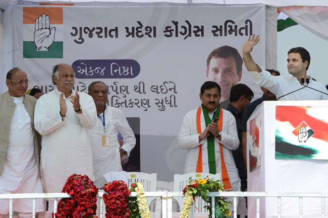 Rahul Gandhi says Amit Shah have made vikas mad in Gujarat