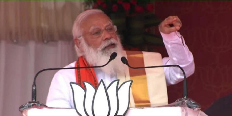 PM Modi addresses election rally in Palakkad