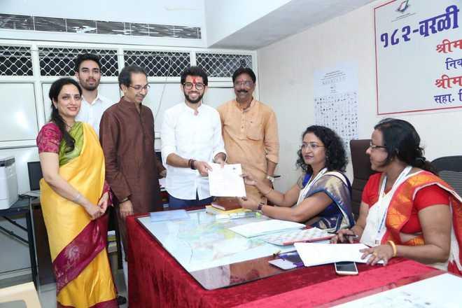 Aaditya Thackeray files nomination from Mumbai