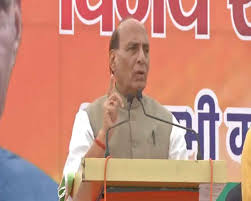 Rajnath accuses Congress of internationalising Kashmir issue
