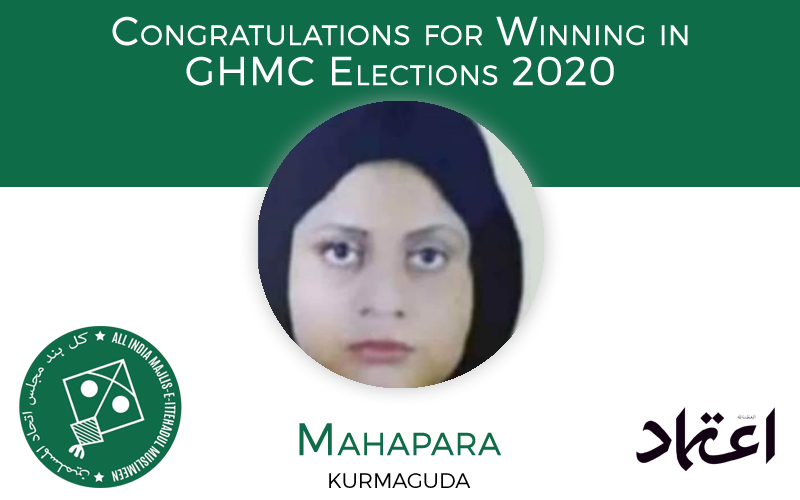GHMC elections: MIM candidate Mahapara wins from Kurmaguda Division