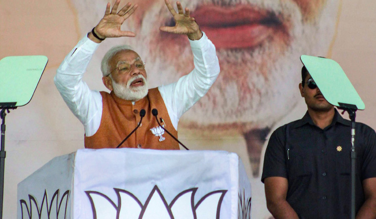 My govt has shown courage for surgical strikes in land, space, sky: PM Modi