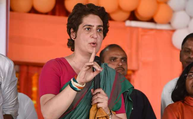 Priyanka Gandhi criticises government on issue of demonetization