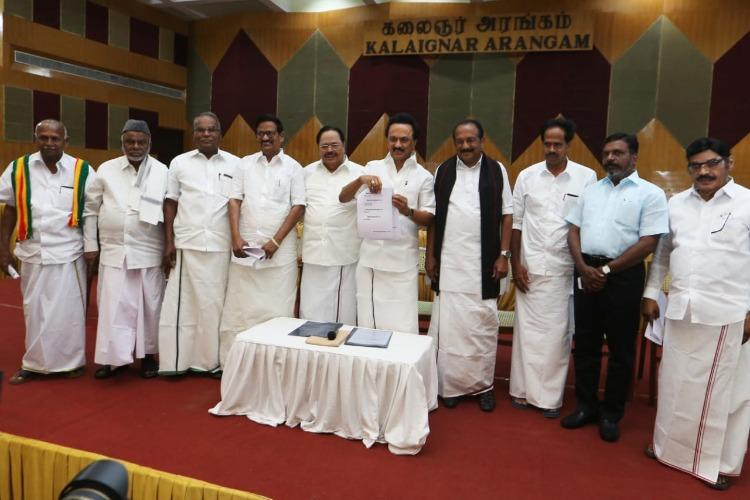 DMK-led alliance in Tamil Nadu announces seat sharing