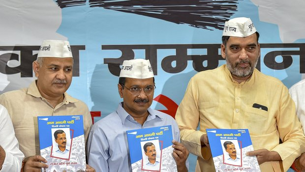 AAP releases manifesto: Kejriwal says party to gain full statehood for Delhi