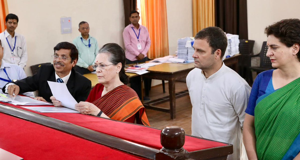 Sonia Gandhi files nomination papers in Rae Bareli