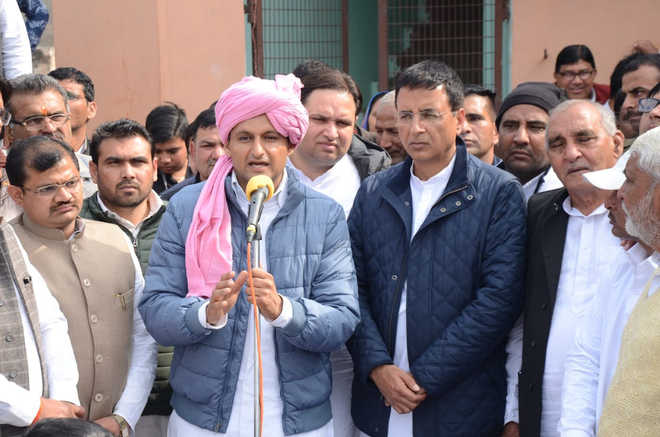 Deepender Singh Hooda files nomination from Rohtak