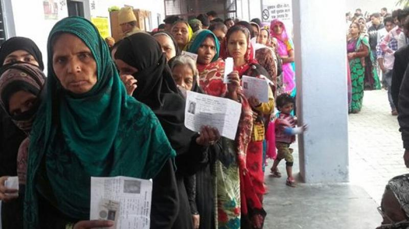 UP elections  polling ends, voter turnout at 55% by 4pm