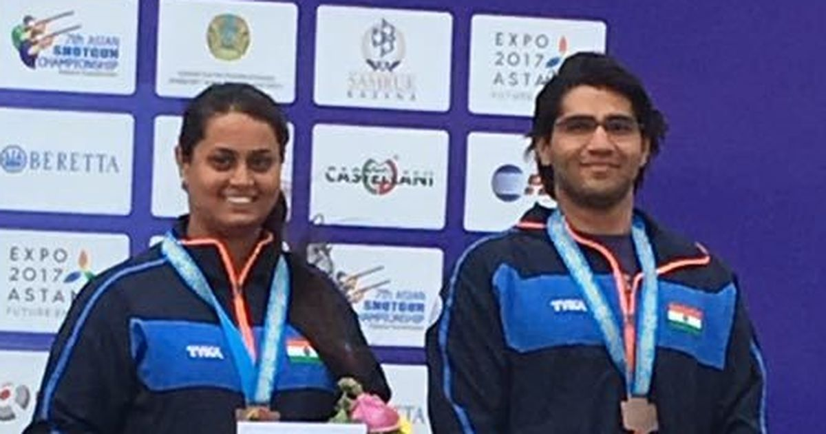 Asian Shotgun Championship: Kynan, Shreyasi win bronze in mixed team trap event