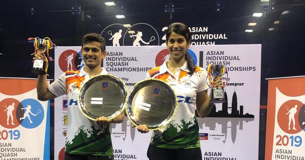 Saurav Ghoshal & Joshna Chinappa win Asian Individual Squash Championship titles