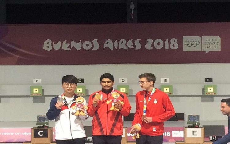 Saurabh Chaudhary bags Gold in 10-m air pistol in the Youth Olympic Games