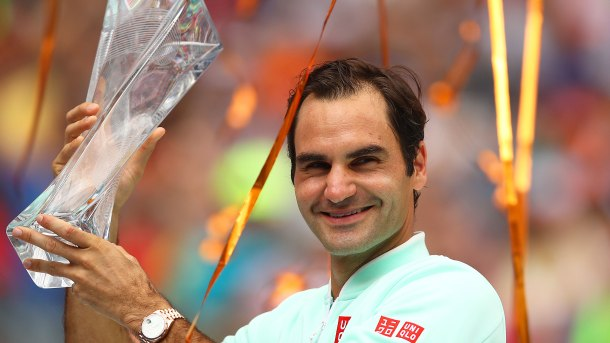Federer clinches Miami Open title