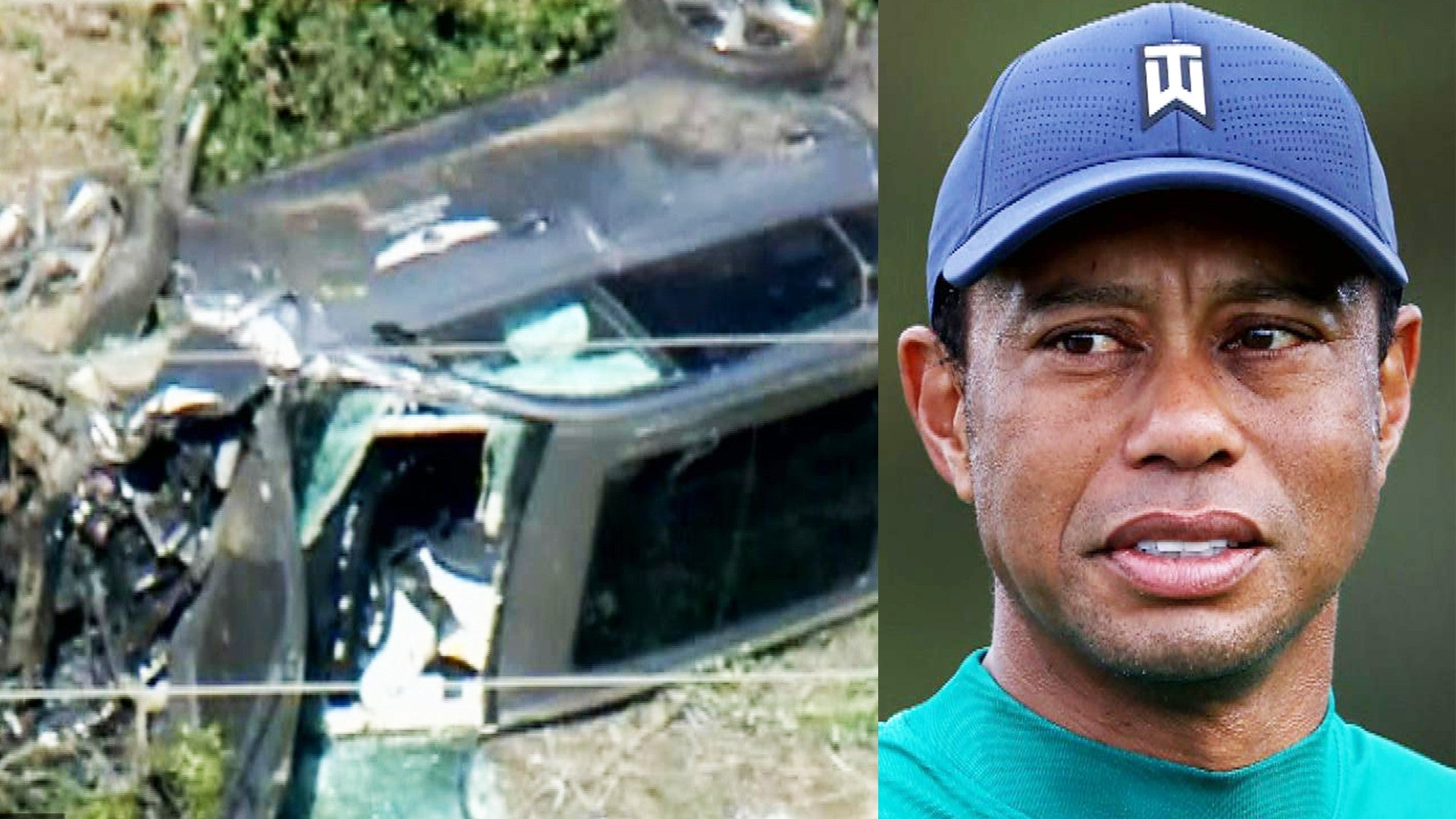 US golfer Tiger Woods hospitalized after a car crash