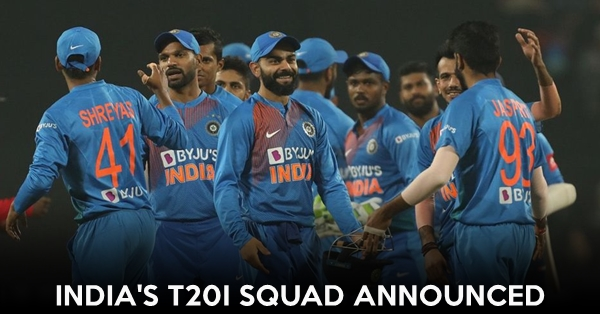 Indian T20I squad announced for upcoming New Zealand tour