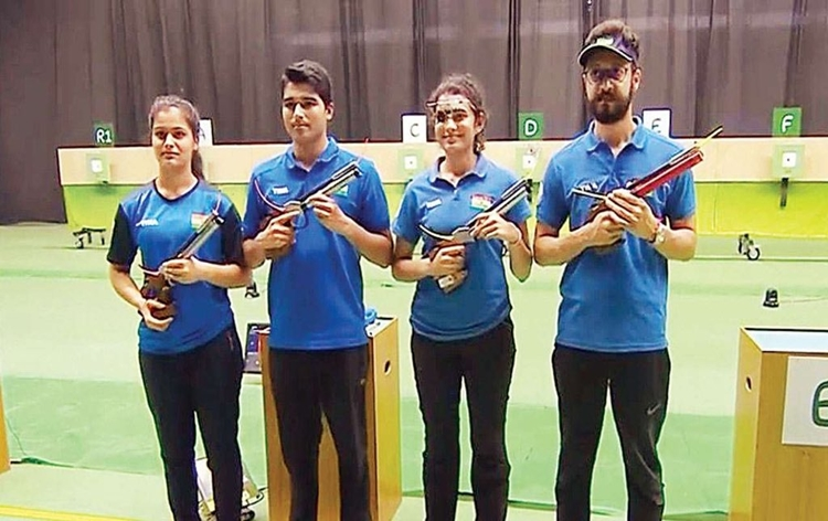 Indian shooters secure unprecedented 15 quota places for Tokyo Olympics