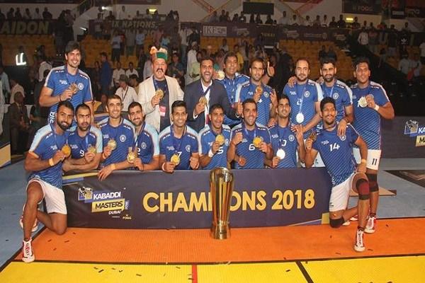 India clinch Kabaddi Masters title defeating Iran 44-26