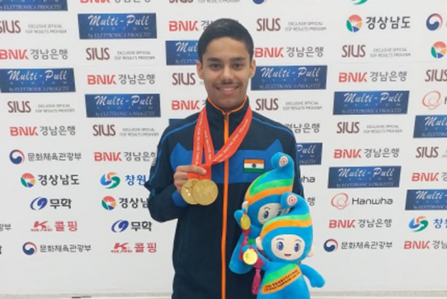 Vijayveer wins his 3rd gold medal at Junior Shooting World Cup