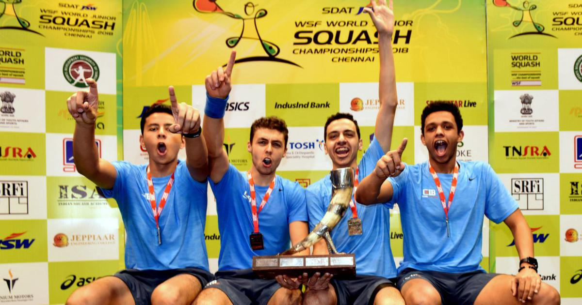 Egypt beat England to win boys title at World Junior Squash team championship