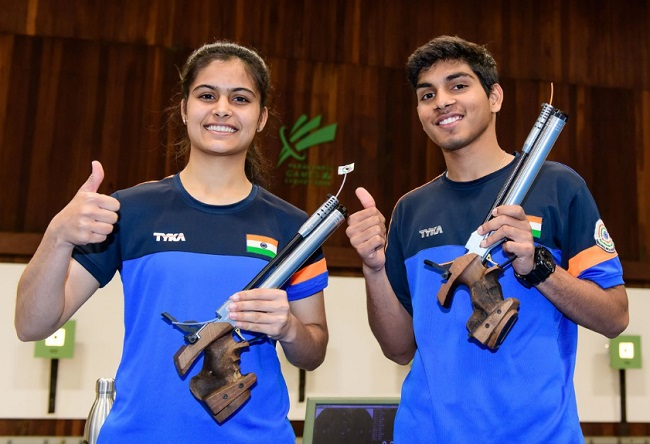 Manu Bhaker, Anmol jointly lift gold in ISSF Junior World Cup