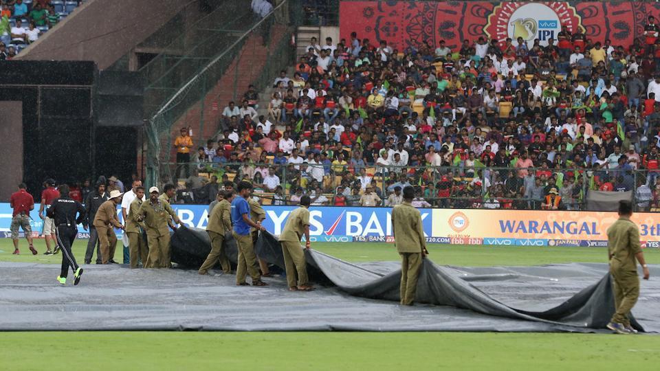 Rain stops play in RCB vs KKR match