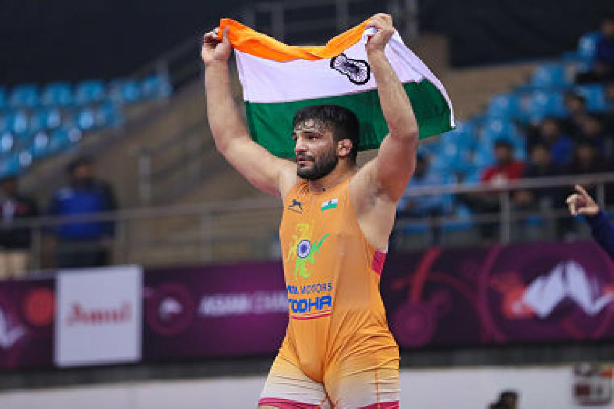 Sunil Kumar snags gold in Asian Wrestling Championships