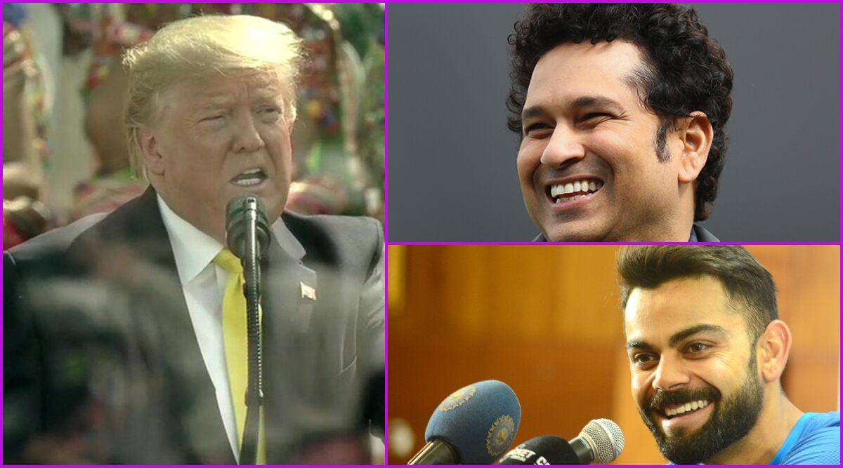 President Donald Trump praises Sachin Tendulkar, Virat Kohli at the