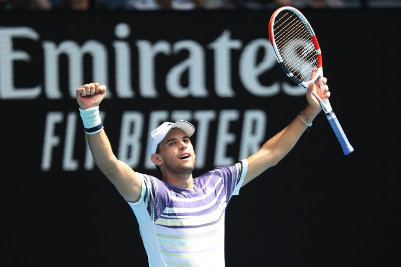 Thiem cruises into quarterfinals at Australian Open