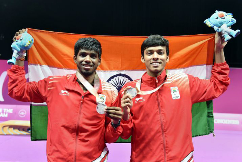 Rankireddy-Shetty jump seven spots in badminton rankings