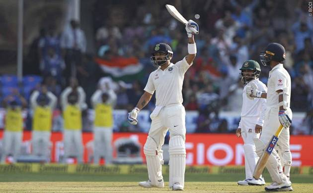 India move to 477 for four at lunch against Bangladesh