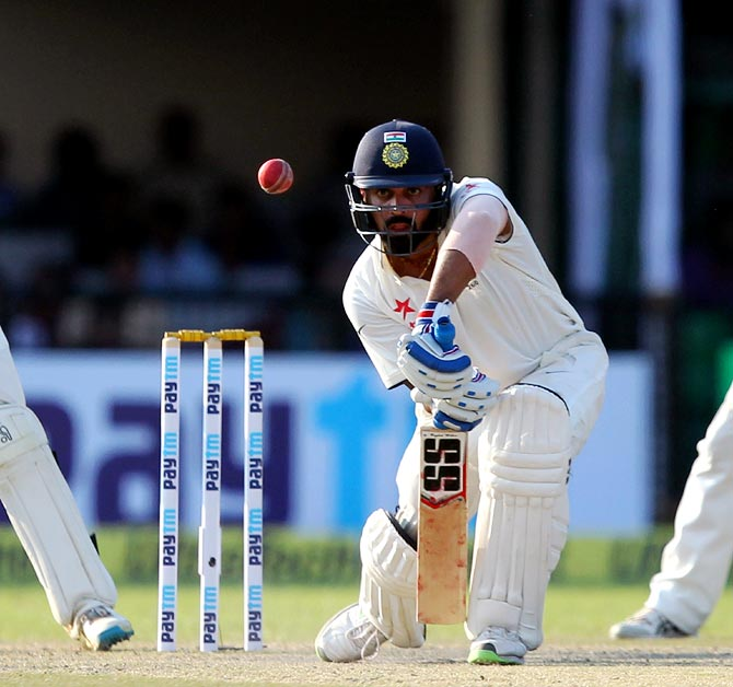 Vijay, Pujara hit fifties as India reach 162 for 1 against India