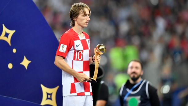 Croatian footballer Luka Modric wins FIFA