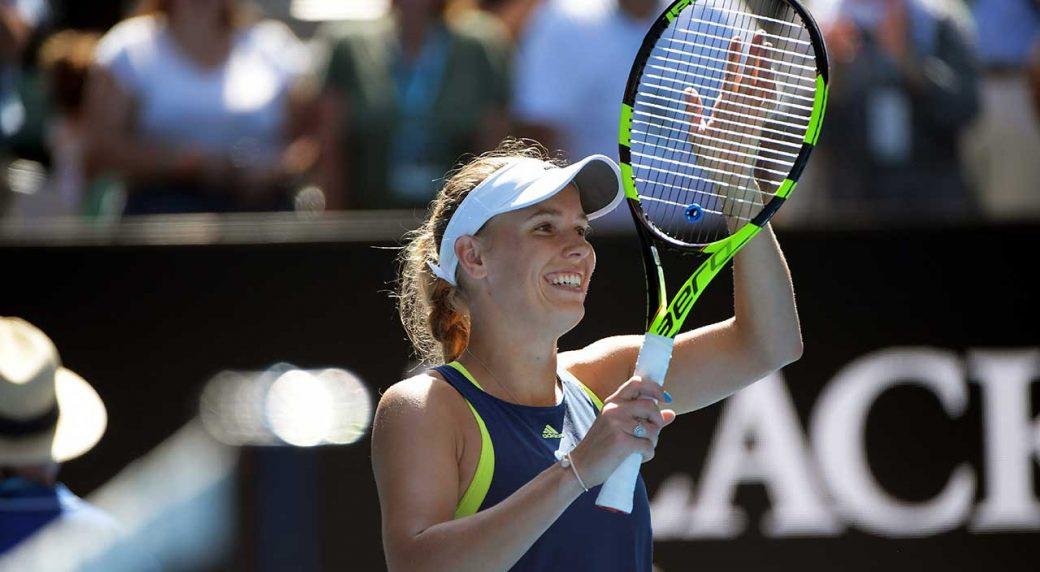 Wozniacki beats Mertens to reach Australian Open final