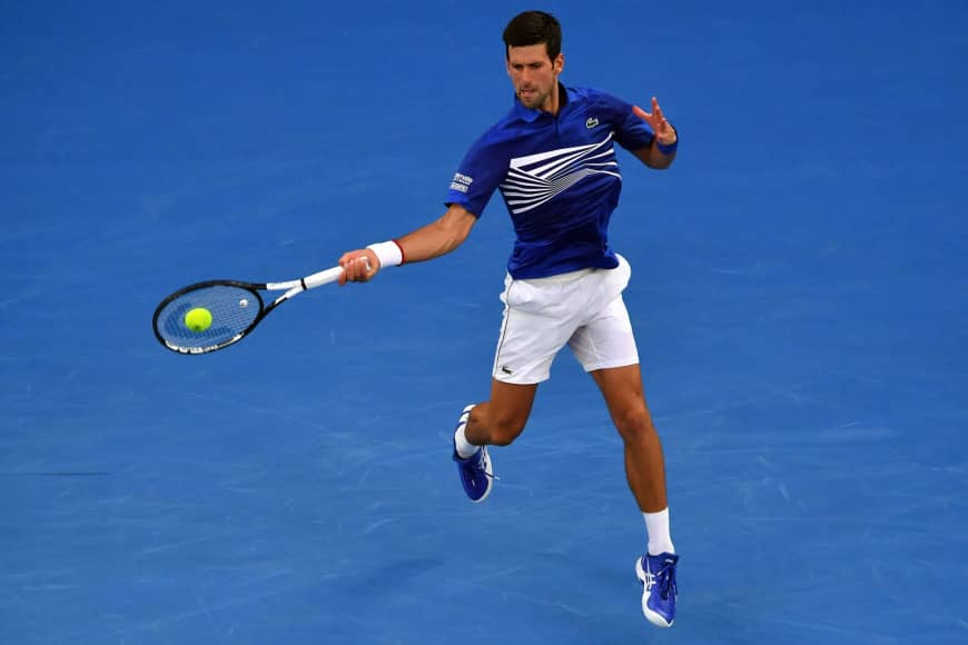 Novak Djokovic beat Mitchell Krueger in the opening match of Australian Open