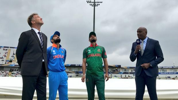ICC Champions Trophy semifinal:Ind vs Ban :  India elect to field against Bangladesh