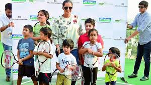 Sania Mirza launched SMTA Grassroot Level Acedemy for kids in Hyderabad