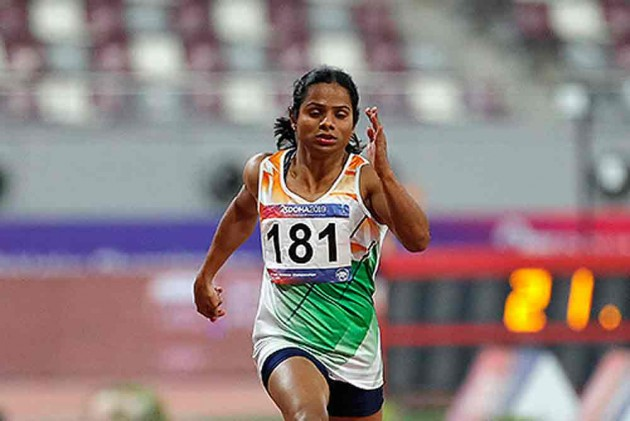 Dutee Chand break her own national record