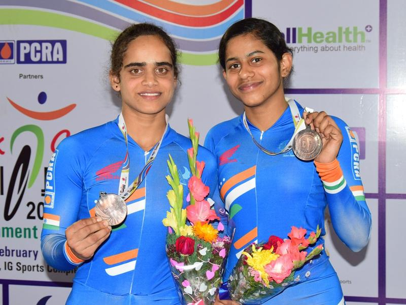 India wins a bronze on opening day of Asian Track Cycling