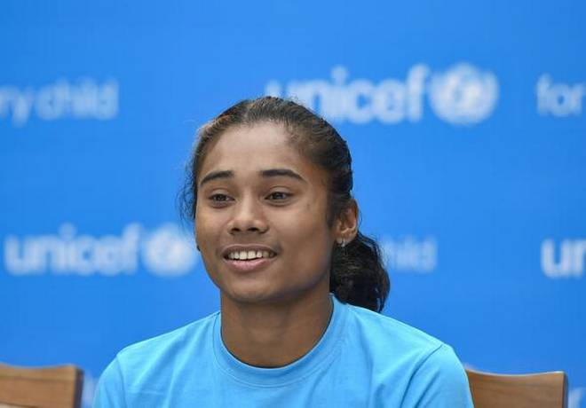 Hima Das in Unicef-India