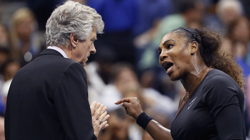 Serena Williams calls out sexism during US Open final, vows to
