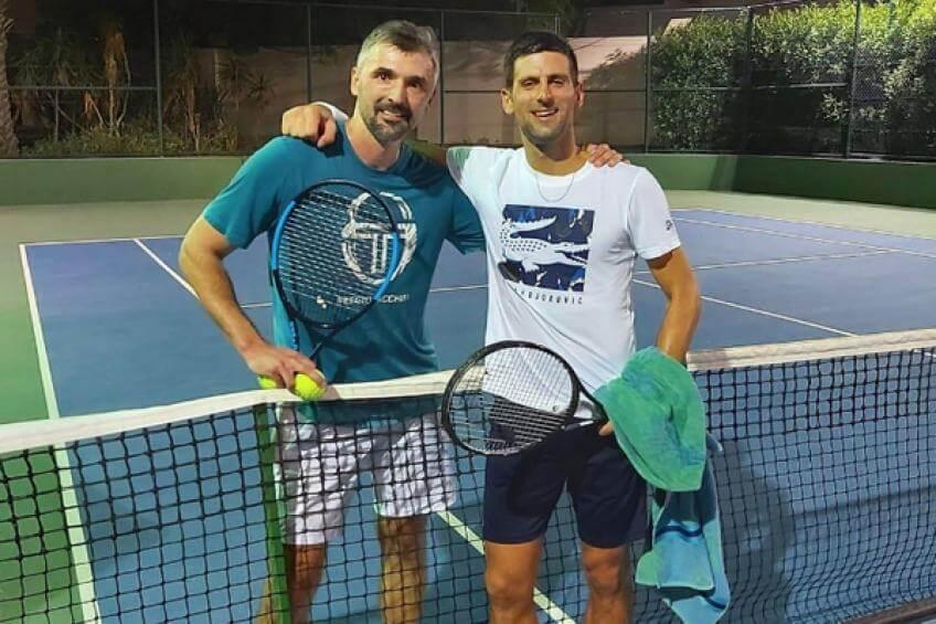 tennisplayernovakdjokovicscoachgoranivanisevicdetectscorona+