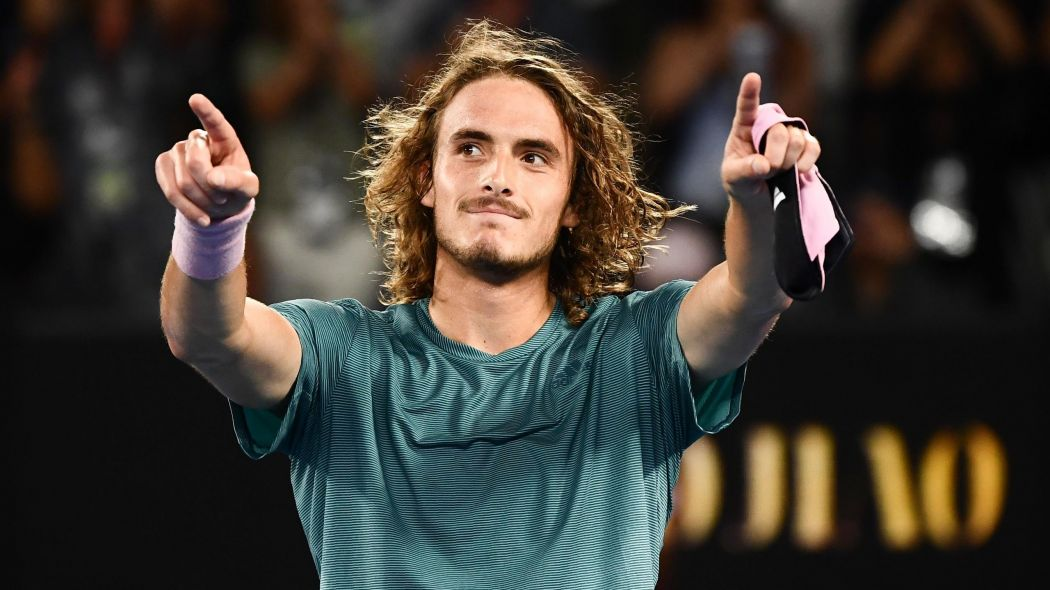 Stefanos Tsitsipas enter into the Men